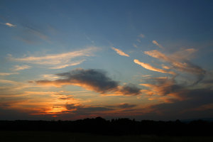 Sussex sunset: Sunset landscape in West Sussex, England.