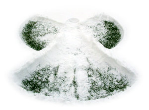 Susan's Snow Angel: Cool snow angel my sister made last year in France.