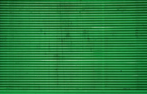 green corrugated iron