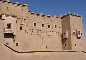 Kasbah at Ouazazate: Glaoui Taourit kasbah,fortress at Ouarzazate which is the gateway to the Sahara in Morocco