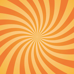 Orange Twist: Orange sunburst twist.  Textured background with lots of copy space.