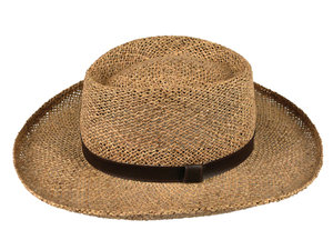 Straw Hat: Various isolated objects on a white background.