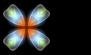 Gossamer Flower: Glowing gossamer image that looks like a flower.