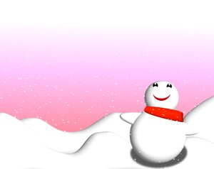 Snowman: Cute little snowman looking up at the falling snow. Suitable for children's illustrations.Remember, no redistribution of my images is allowed. Not for multiple or print on demand items without express permission.