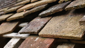 Tile roof 1: Tile roof from an old wash house. Format 16:9.
