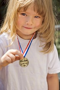 Child and medal