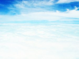Cloud: photo of the clouds from above as seen from a flight