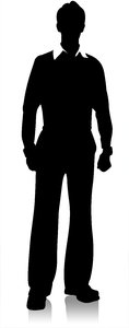 Businessman Silhouette:            My silhouette Use it for business, informal , teenager etc  concepts
