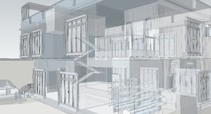 Building 3D and wireframe 5