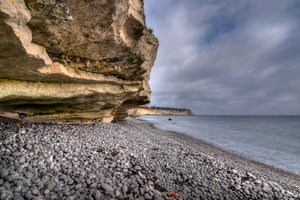 Coast, cliff and sea - HDR