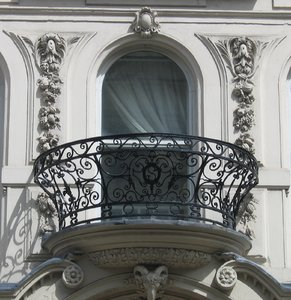 wrought-iron balcony