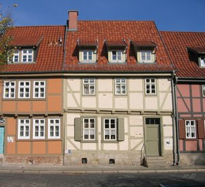 old half-timbered buildings