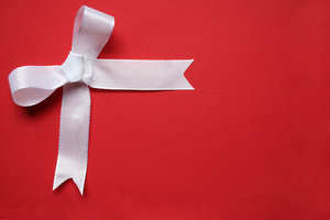 bow 1: just a simple white ribbon on different paper