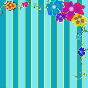 Striped Flower Frame