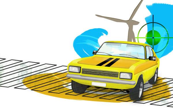 Car grunge illustration 1