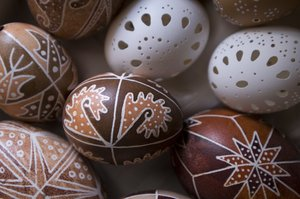 Easter eggs 3: Hand painted easter eggs from the Bakony region of Hungary