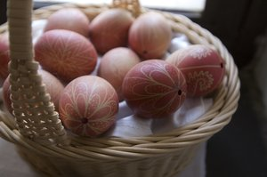 Easter eggs: Hand painted easter eggs from the Bakony region in Hungary