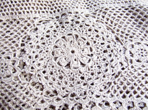 crocheted cloth