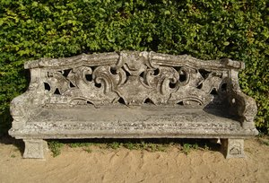 Stone park bench