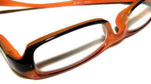 Orange/black reading glasses