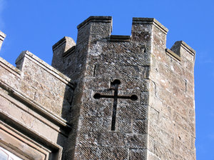 balloch castle tower detail
