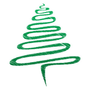 Green Scribble Xmas Tree