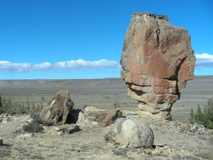 huge rock: photo taken in Argentina