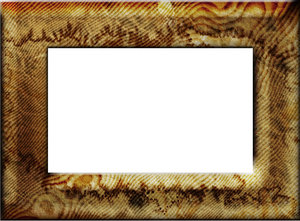 Stained wooden frame