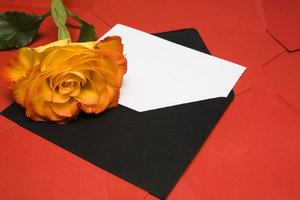 letter and rose concept