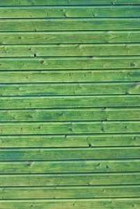 Green painted wood
