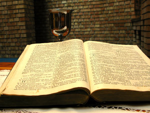 Bible and cup