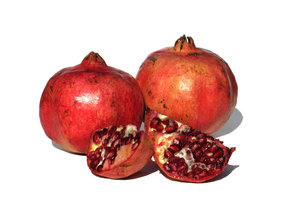 pomegranates: none