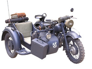 Motorcycle with sidecar
