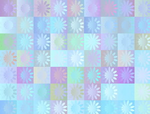 Squares 2: Square and floral patterns in pastel colours. Great texture or background. Nice scrapbooking element.