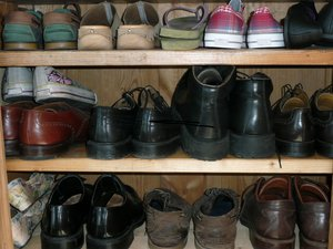 Shoes: Cupboard with shoes