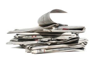 newspapers pile