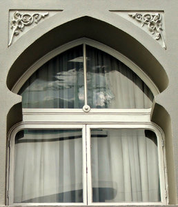 arabesque framed window