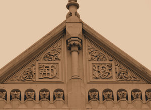 city gargoyles sepia: sepia images of gargoyles, grotesques and demons on old city buildings