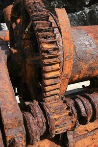 Corroded winch