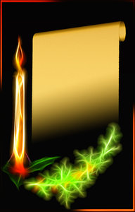 Christmas Candle card: Abstract candle and card