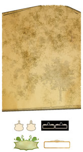 Parchment for family tree