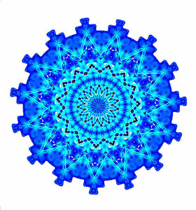 blue cogwheel mandala: abstract backgrounds, textures, patterns, geometric patterns, kaleidoscopic patterns, circles, shapes and perspectives from altering and manipulating image