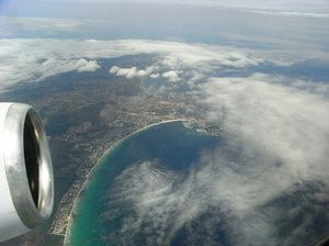 Flying over Majorca
