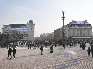 Warsaw's Old Town in winter
