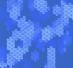 Binary Background 3: A binary texture or background in shades of blue.