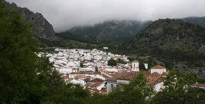 Spanish mountain village: A white village in the mountains of Andalucia, Spain.