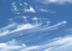 high design - clouds6: fine light thin streaky cloud formations