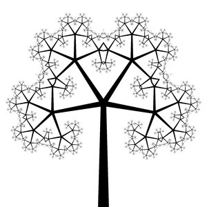 Fractal Tree 5: An ornate fractal tree in black and white. Very decorative for a card, etc. You must ask me for permission if you wish to use this on saleable items or if you wish to offer it for download elsewhere.