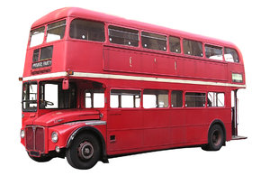 Double Decker: British Bus Isolated.