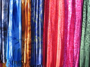 colourful batik shawls 2